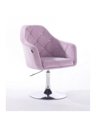 Blerm Cristal – krzesło kosmetyczne wrzosowe z kryształkami WELUR