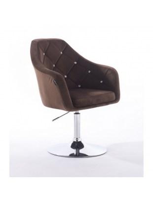 Blerm glat – krzesło kosmetyczne brązowe dysk