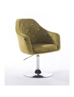 Blerm glat – krzesło kosmetyczne oliwkowe dysk