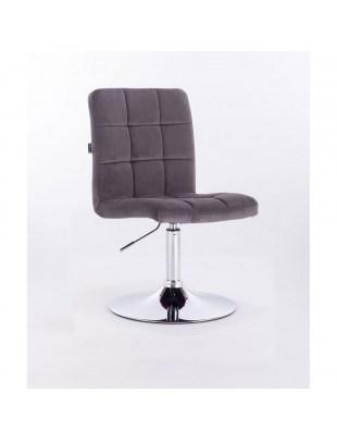 Camelia - Krzesło kosmetyczne grafitowe welur