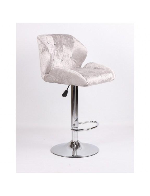 ANTONY - hoker kosmetyczny srebrny, dysk z podnóżkiem