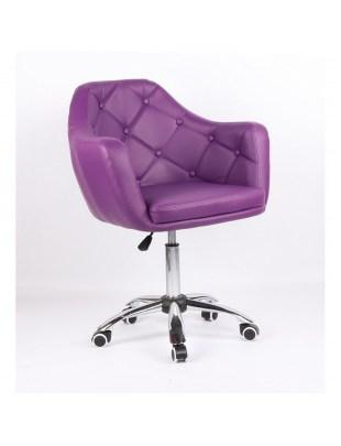 Blink - Fotel fryzjerski fioletowy