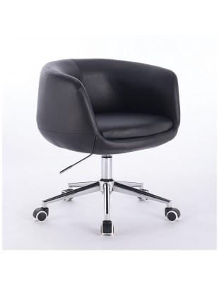BARDO - Fotel fryzjerski czarny