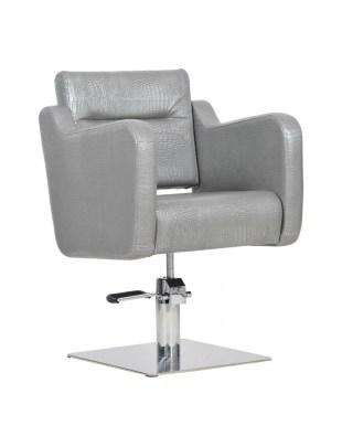 Lux - Fotel fryzjerski grafitowy krokodyl