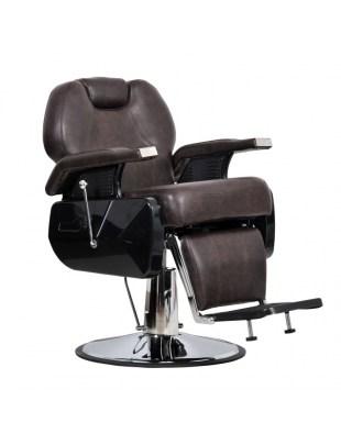 Elite - Fotel fryzjerski męski brąz poekspozycyjny
