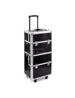 Kufer Fryzjersko - Kosmetyczny MAX - BLACK CROCIDLE