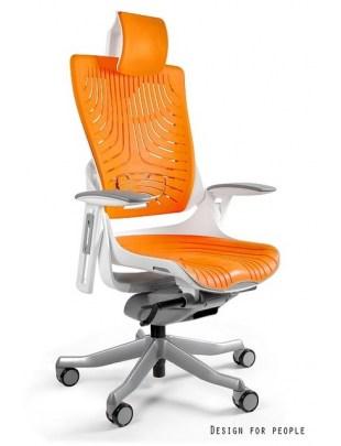 Wau 2 - krzesło biurowe - elastometr mango