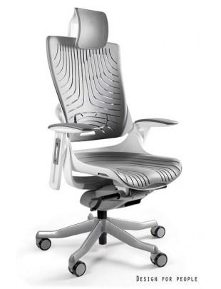 Wau 2 - krzesło biurowe - elastometr szary