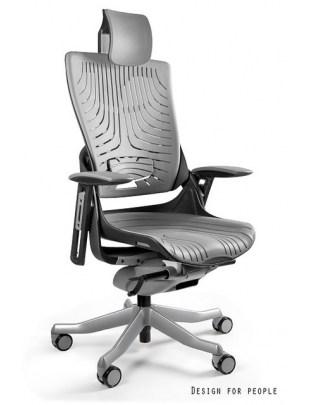 Fotel biurowy WAU 2 ELASTOMETR czarny - szary
