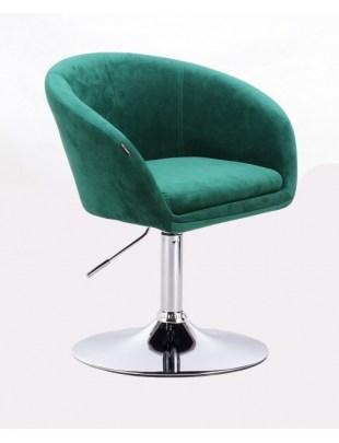 Cassie - Fotel butelkowa zieleń dysk