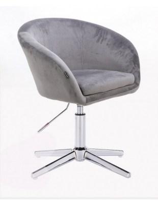 Cassie - Fotel stalowy cross