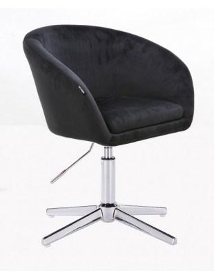 Cassie - Fotel czarny cross