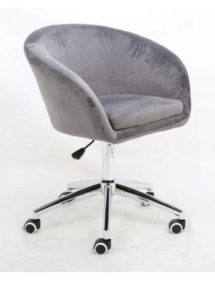 Cassie - Fotel stalowy kółka chrom