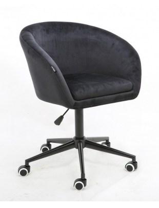 Cassie - Fotel czarny mat