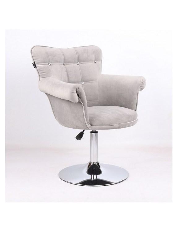 LORA CRISTAL - Fotel fryzjerski stalowy, dysk