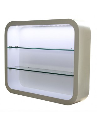 Locarno 2032 - Witryna ścienna z oświetleniem LED - biała