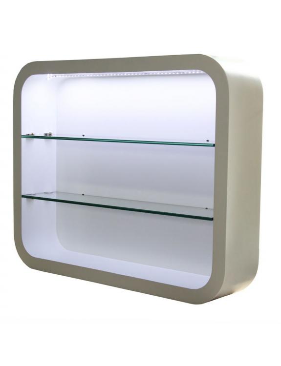 Witryna ścienna Locarno 2032 z oświetleniem LED - biała