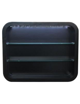 Witryna ścienna Locarno 2032 z oświetleniem LED - czarna