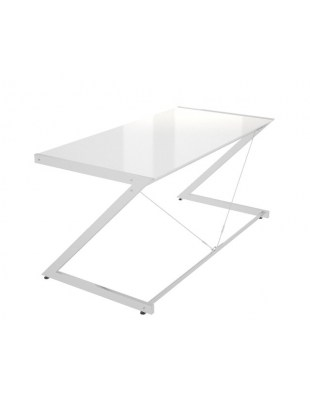 Z-Line - Chrom - Main Desk White