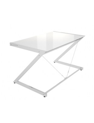 Z-Line - Chrom - Computer Desk White