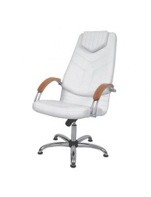 DINO I - Fotel kosmetyczny z podłokietnikami drewnianymi Panda