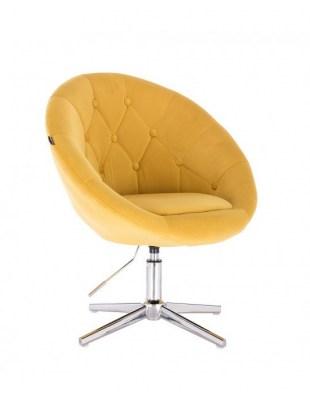 Blom - krzesło kosmetyczne żółte tkanina