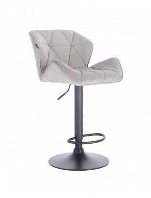 Bret – krzesło kosmetyczne tapicerowane stalowe podstawa dysk z podnóżkiem
