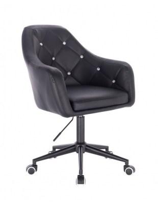 Blink - fotel fryzjerski biała czarna podstawa czarna