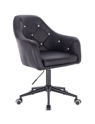 Blink HR - fotel fryzjerski biała czarna podstawa czarna