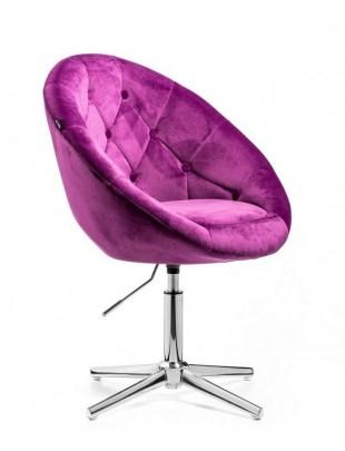 Blom - krzesło kosmetyczne fuksja welur