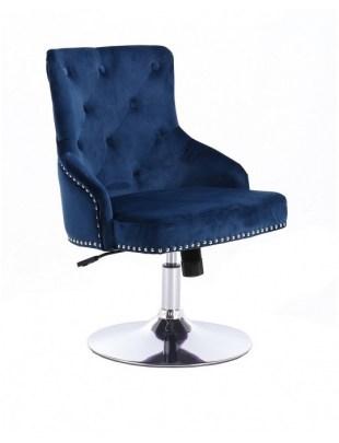 Claris - fotel kosmetyczny ciene może welur dysk