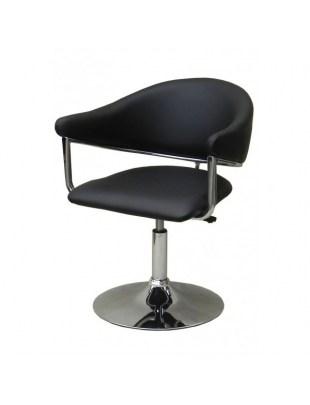 Carole - Fotel fryzjerski czarny