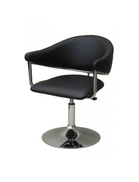 Carole - Fotel fryzjerski czarny eko skóra WYBÓR PODSTAW