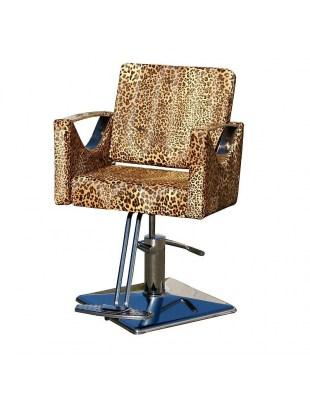 Fotel fryzjerski Messina - leopard