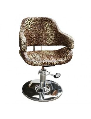 Fotel fryzjerski Vigo 1897 - leopard