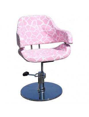 Cesano 1367 - Fotel fryzjerski różowy/biały