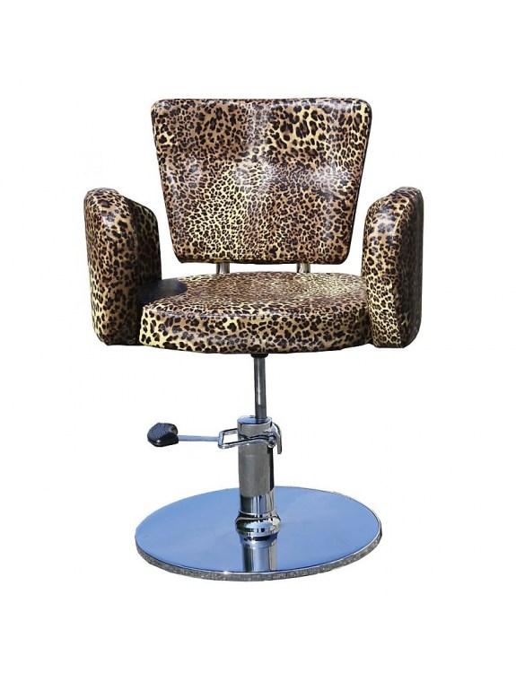 Fotel fryzjerski Cesano 1367 - leopard