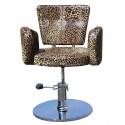 Cesano 1367 - Fotel fryzjerski leopard