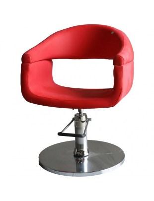 Fotel fryzjerski FIGARO FERRARA 1156 czerwony