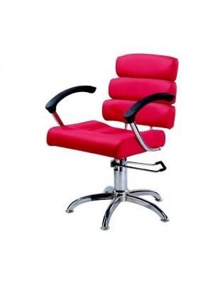 Fotel fryzjerski SYRACUS 1147 czerwony