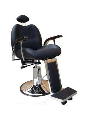 Modena 1144 - Fotel fryzjerski męski czarny