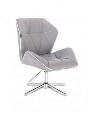 CRONO - Krzesło kosmetyczne szare krzyżak