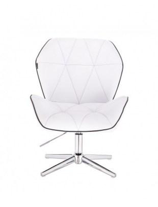 CRONO - Krzesło kosmetyczne białe krzyżak