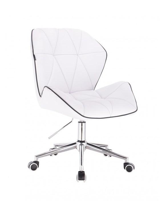 CRONO - Krzesło kosmetyczne białe kółka