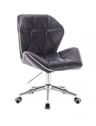 CRONO - Krzesło kosmetyczne czarne kółka