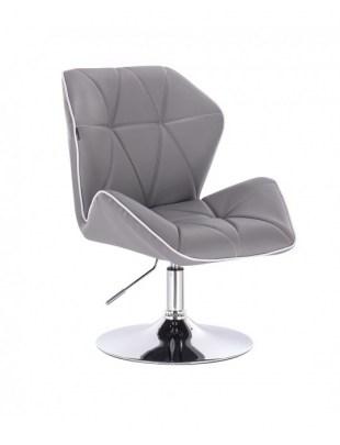 CRONO - Krzesło kosmetyczne szare dysk
