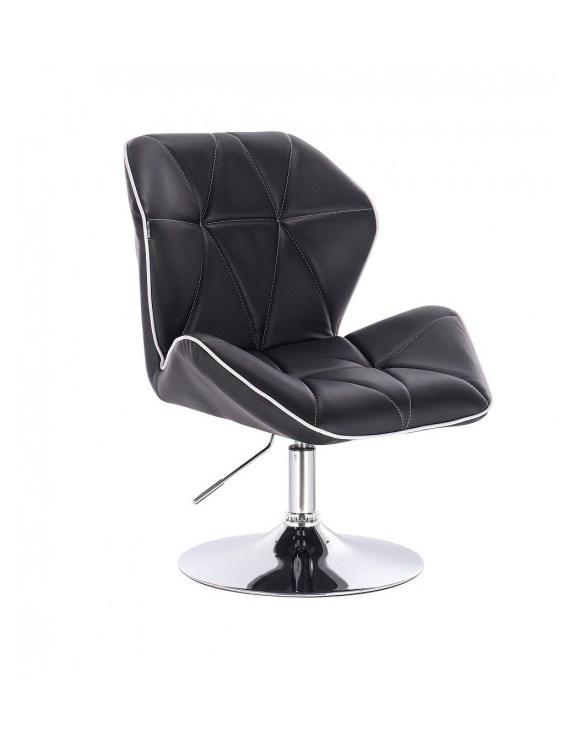 CRONO - Krzesło kosmetyczne czarne dysk