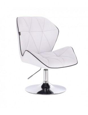 CRONO - Krzesło kosmetyczne białe dysk