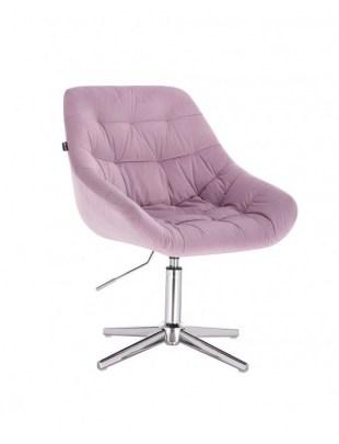 MELVIN - Krzesło kosmetyczne wrzosowe welur krzyżak