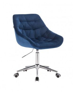MELVIN - Krzesło kosmetyczne ciemne morze kółka